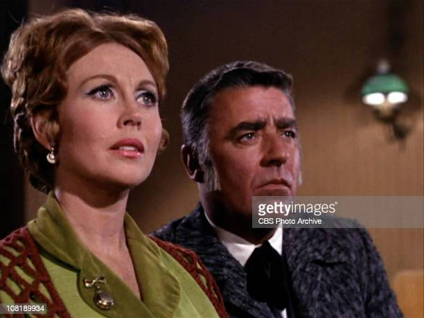 Hazel Court as Elizabeth Carter and Peter Lawford as Carl Jackson in The Night of the Returning Dead season 2 episode 5 of the TV series THE WILD...