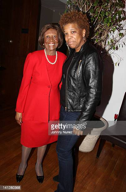 Hazel Dukes and photographer Rowena Husbands attend the Inspired New York honors at Tian at the Riverbank on March 13 2012 in New York City