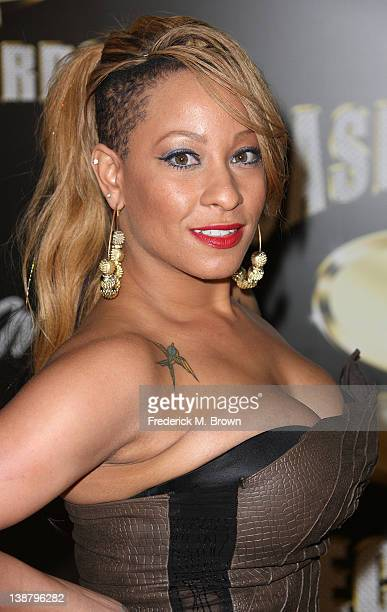 Hazel E attends The Third Annual Cash Money Records PreGRAMMY Awards Party at Paramount Studios on February 11 2012 in West Hollywood California