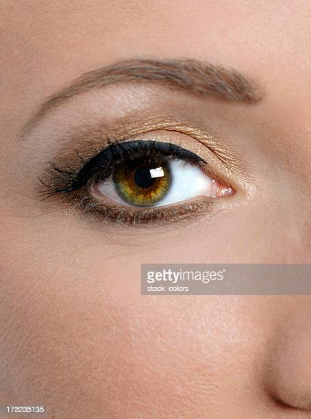 Hazel Eye Makeup And Eye Shadow For: Hazel Eyes Stock Photos And Pictures