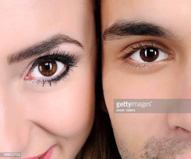 occhi color nocciola - occhi nocciola foto e immagini stock