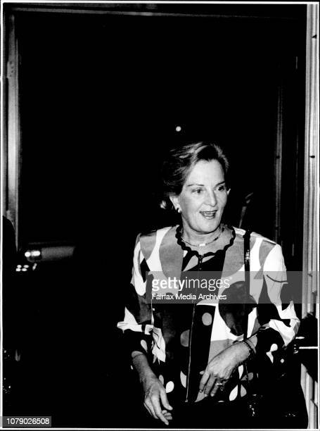 Hazel Hawke attended a function at The Ritz Carlton in the city tonight It is speculated that she will be going back into Hospital soonThree years...