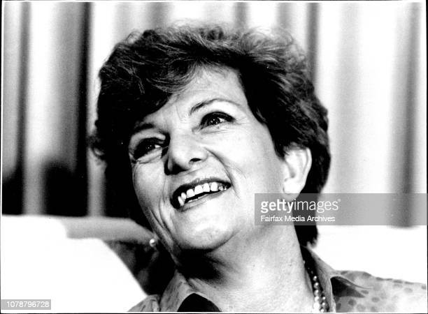 Hazel Hawke wife of Prime Minister Bob Hawke compares the Ray Martin show at the Channel 9 studios yesterday Various pictures of Hazel Hawke during a...