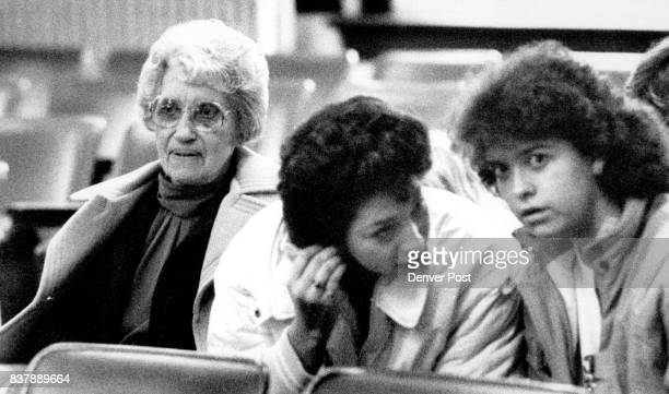 Hazel in the court room before the hearing began this is the Washington Co Court house in Akron Colo The two girls to the right of Hazel were...