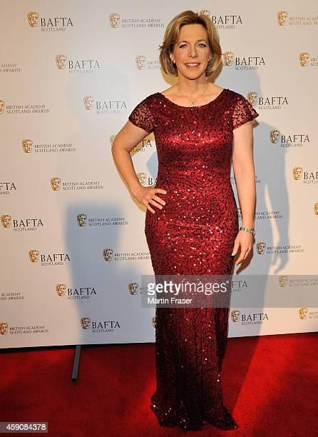 Hazel Irvine attends the British Academy Scotland awards at Radisson Blu Hotel on November 16 2014 in Glasgow Scotland