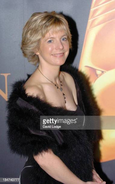 Hazel Irvine during Royal Television Society Sports Awards for 2005 Arrivals at Grosvenor House in London Great Britain