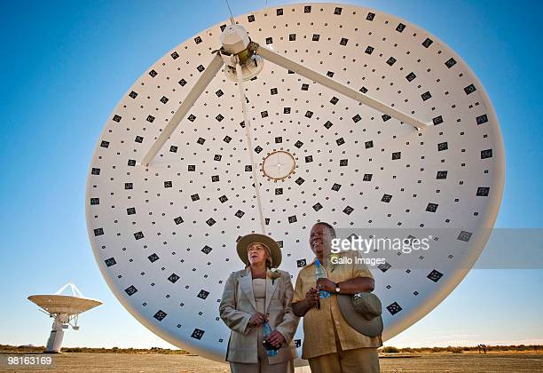 Hazel Jenkins , Premiere of the Northern Cape Province and South African Minister of Science and Technology, Naledi Pandor stand in front of an...