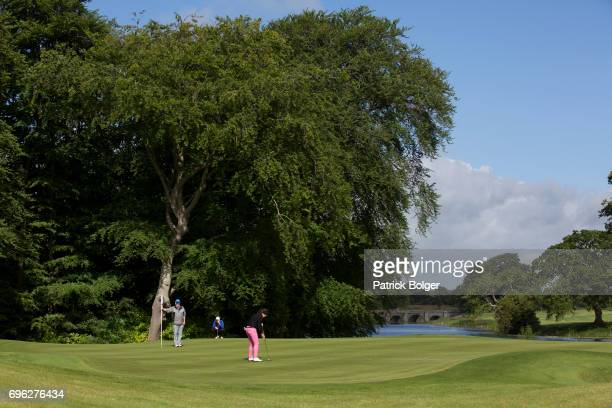 Hazel Kavanagh from Carr Golf Centre at Spawell putts on the 1st green during the Titleist and Footjoy PGA Professional Championship at Luttrellstown...