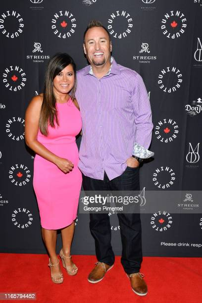 Hazel Mae and Kevin Barker attend the Uninterrupted Canada Launch held at Louis Louis at The St Regis Toronto on August 02 2019 in Toronto Canada