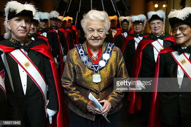 Hazel McCallion _AS03-01-01-03-pix of Mayor Hazel With Knights of Columbus .McCallion and members of Council will kick off 2003 in style by greeting...