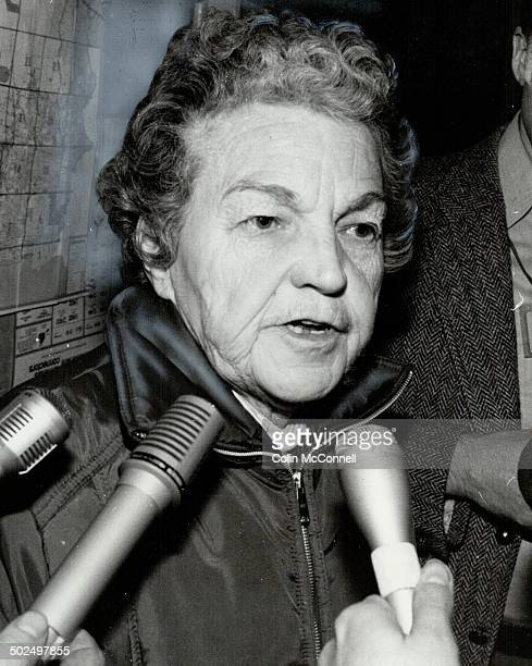 Hazel McCallion: Tired and red-eyed; the mayor of Mississauga this morning asked everyone to please stay out of her abandoned city.