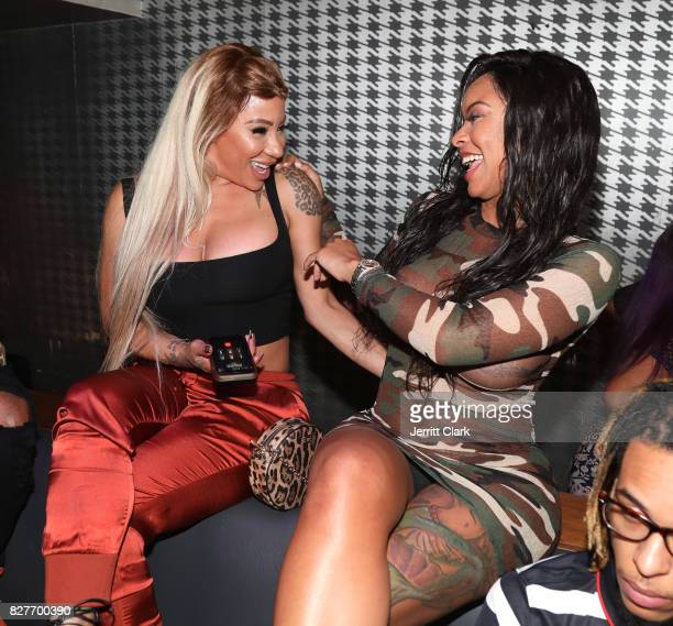 HazelE and Alexis Skyy attend Moula Mondays Hosted By Hazel E And Alexis Skyy at The Diamond District on August 7 2017 in Los Angeles California
