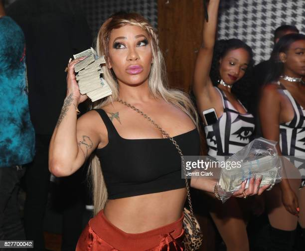 HazelE attends Moula Mondays Hosted By Hazel E And Alexis Skyy at The Diamond District on August 7 2017 in Los Angeles California