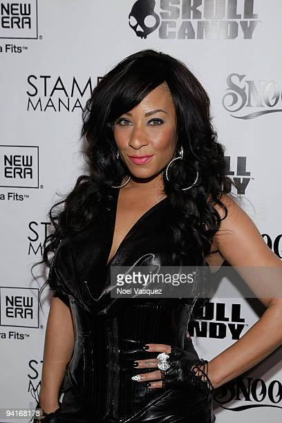 HazelE attends the Famous Stars and Straps 10th Anniversary and Snoop Dogg's 10th album release Malice N Wonderland party at Vanguard on December 8...
