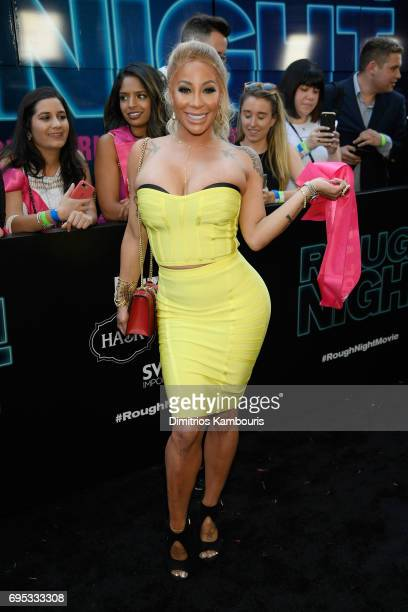 HazelE attends the Rough Night premeire at AMC Loews Lincoln Square on June 12 2017 in New York City