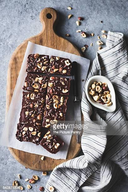 hazelnut ganache brownies