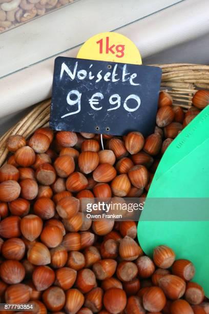 hazelnuts-Market Richard Lenoir - the Sunday market at La Bastille, Paris