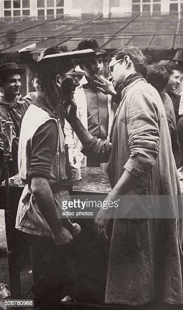 Hazing of the students at the Ecole des Arts et M��tiers of Paris In 1962