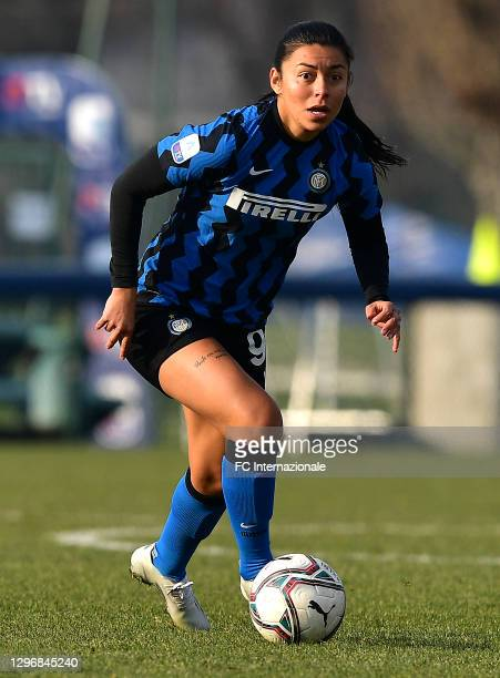 Hazleydi Yoreli Rincon Torres of FC Internazionale in action during the Women Serie A match between FC Internazionale and Juventus at Suning Youth...