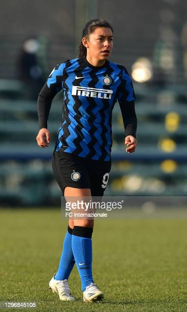 Hazleydi Yoreli Rincon Torres of FC Internazionale looks on during the Women Serie A match between FC Internazionale and Juventus at Suning Youth...