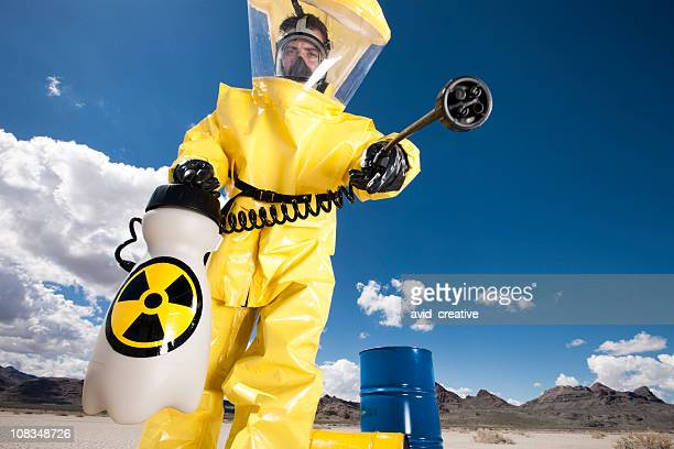 hazmat cleanup - white suit stock pictures, royalty-free photos & images