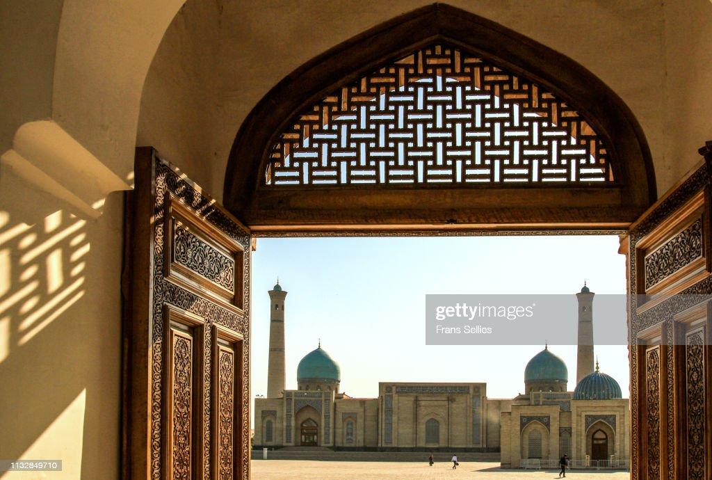 Hazrat Imam mosque and Koran museum in Tashkent, Uzbekistan : Stockfoto