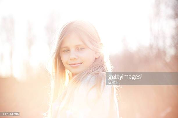 Hazy Backlit Image of a Young Girl