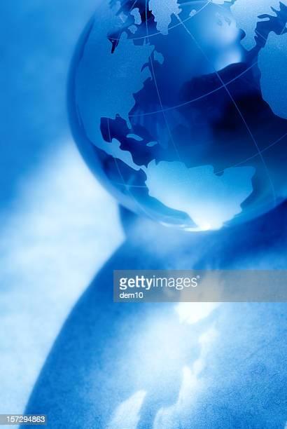 Hazy Blue Globe