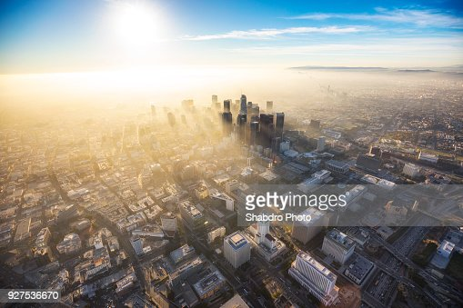 Hazy DTLA Sunset