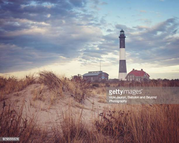 Hazy Landscape at Fire Island Lighthouse