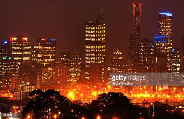 Hazy Melbourne Night