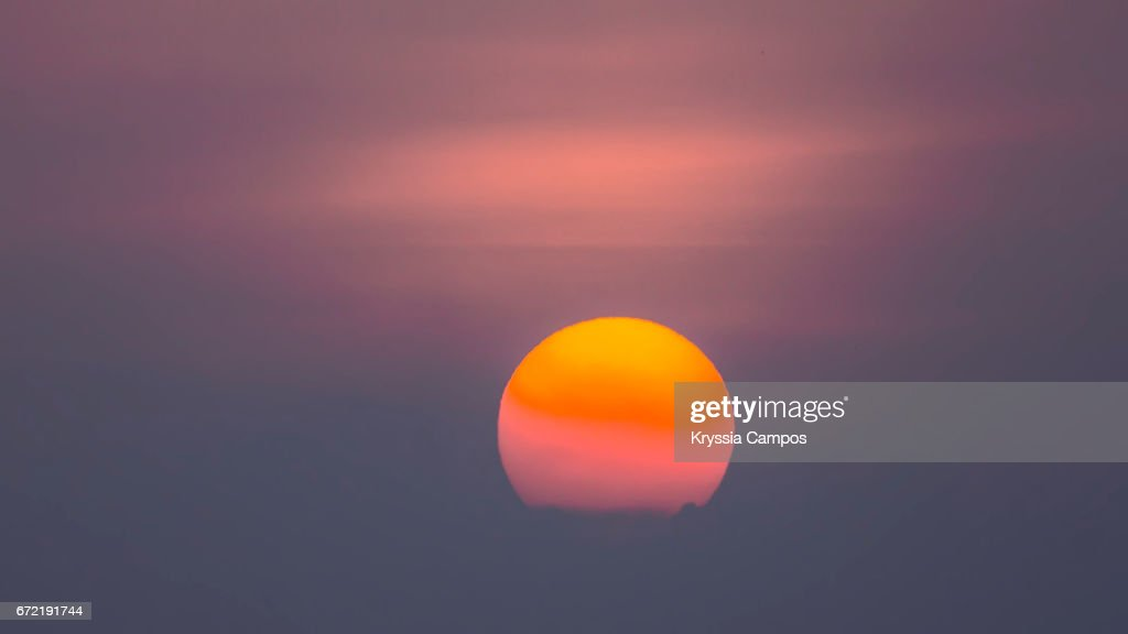 Hazy morning atmosphere in Costa Rica / Global Warming : Stock Photo