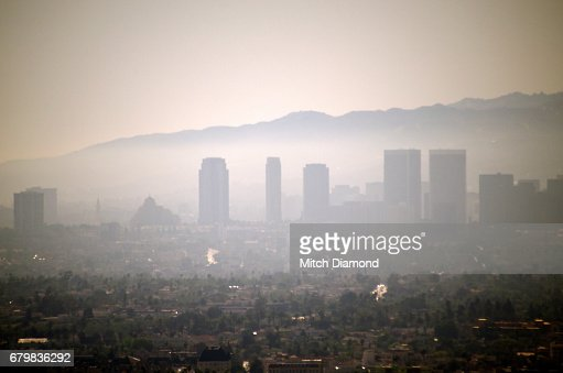 Haze and smog covers the skyline of downtown los angeles ca stock keywords sciox Gallery