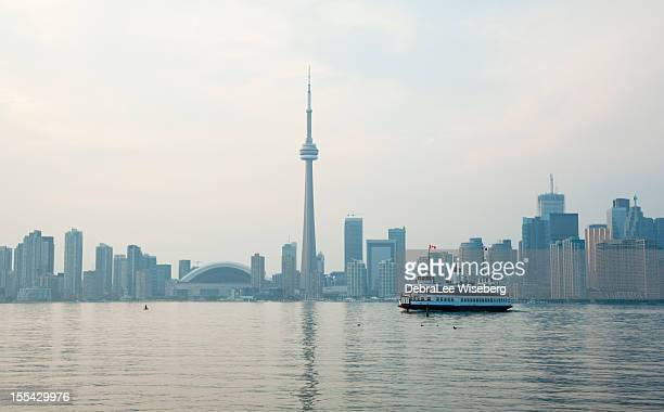 Hazy Sunset In Toronto