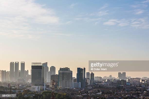 Hazy sunset over Jakarta
