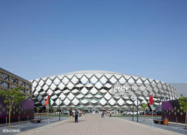 Hazza Bin Zayed Stadium Al Ain Al Ain United Arab Emirates Architect Pattern Design 2014 Contextual view of stadium