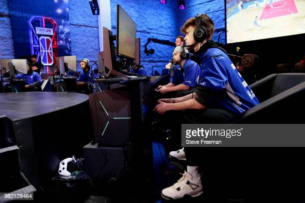 Dayfri of Mavs Gaming plays against Pistons Gaming Team on June 23 2018 at the NBA 2K League Studio Powered by Intel in Long Island City New York...