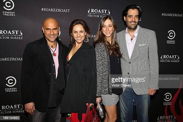Héctor Suárez Gomís Sandra Quiroz Lina Lebrija and MTV Networks Latin America vice president and general director Eduardo Lebrija attend the Comedy...
