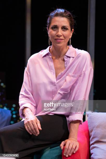 he actress Alicia Borrachero during the presentation of the performance 'Perfectos desconocidos' at the Teatro Reina Victoria in madrid on September...