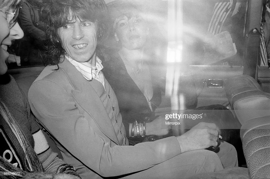 Keith Richard, 29 the Rolling Stones group's lead guitarist today admitted having heroin and cannabis at his Chelsea, Lo : News Photo