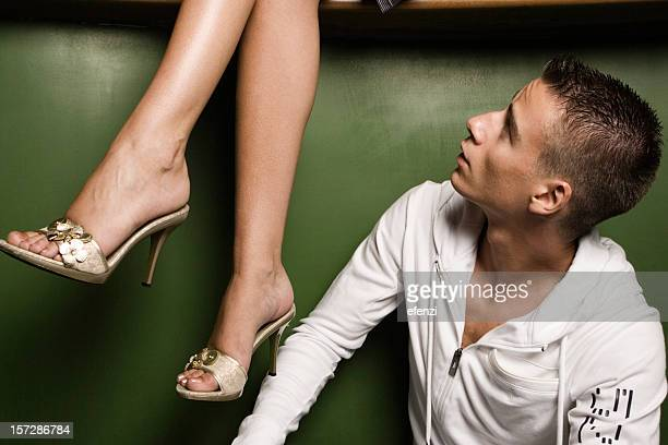 he and her legs - beautiful dominant women stock pictures, royalty-free photos & images