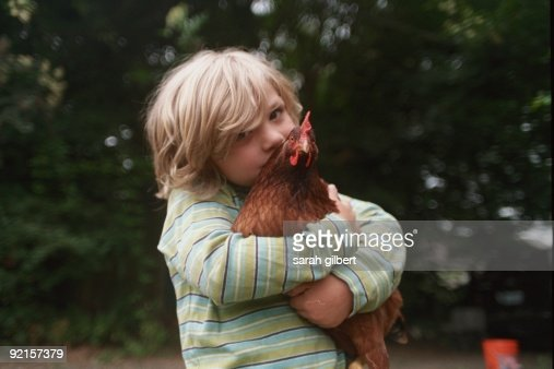He and his chicken