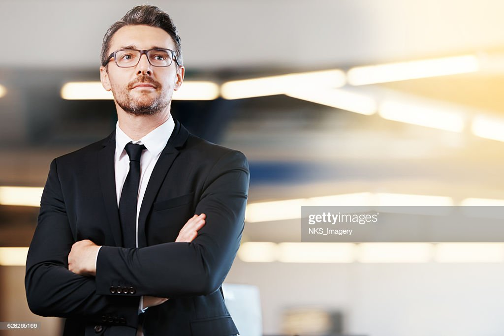 He brings brilliance to the business world : Stock Photo