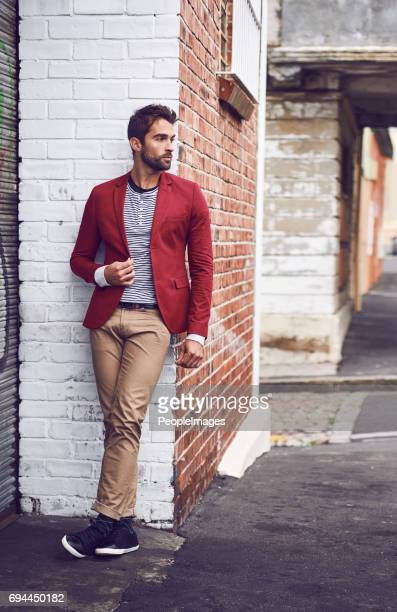 he brings class to the streets - men fashion stock pictures, royalty-free photos & images