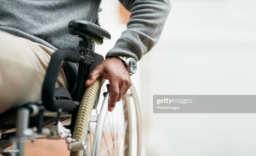 He can still get around : Stock Photo