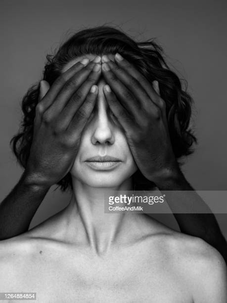 he close her eyes - human rights stock pictures, royalty-free photos & images