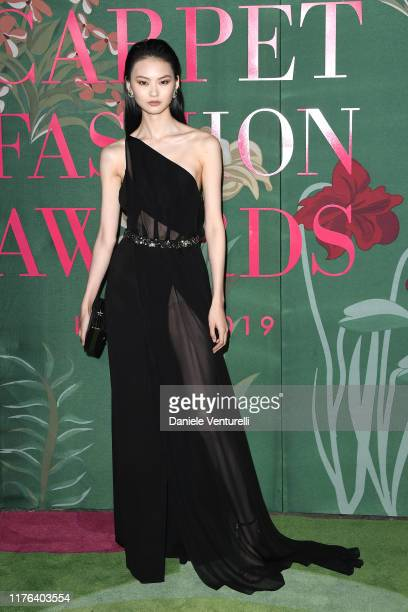 He Cong attends the Green Carpet Fashion Awards during the Milan Fashion Week Spring/Summer 2020 on September 22, 2019 in Milan, Italy.