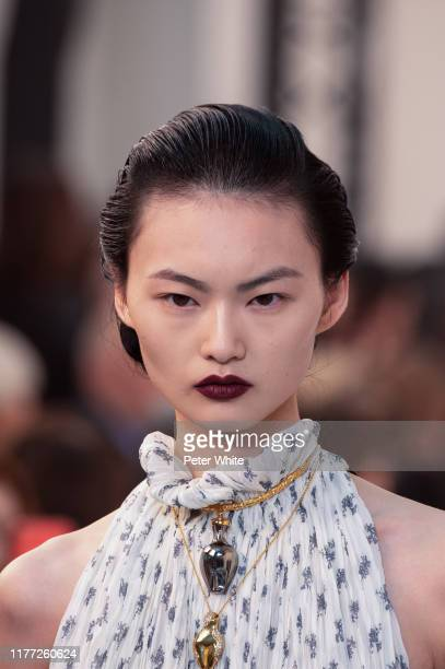 He Cong walks the runway during the Chloe Womenswear Spring/Summer 2020 show as part of Paris Fashion Week on September 26, 2019 in Paris, France.