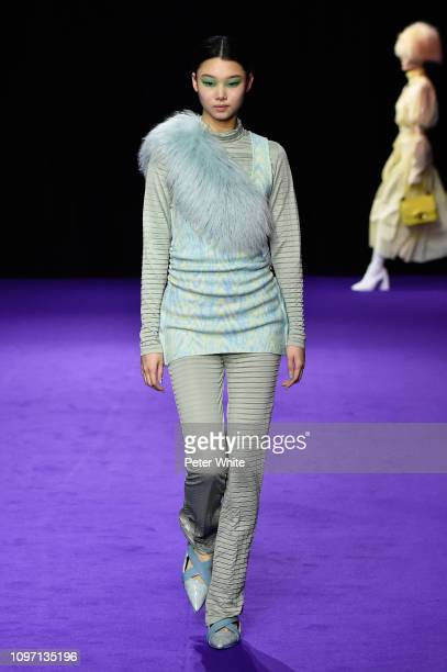 He Cong walks the runway during the Kenzo Menswear Fall/Winter 20192020 show as part of Paris Fashion Week on January 20 2019 in Paris France