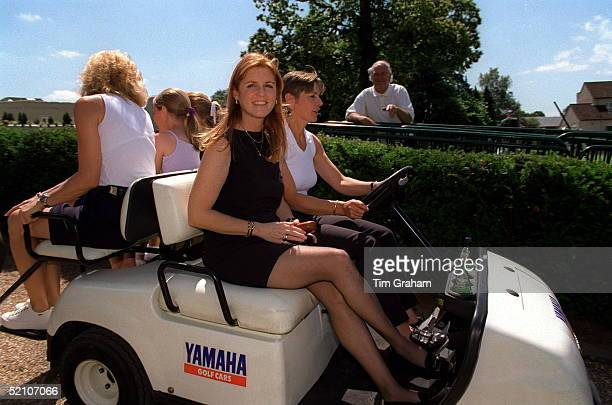 He Duchess Of York Enjoying A Ride At Wentworth Golf Club During A Charity Match On Behalf Of Children In Crisis